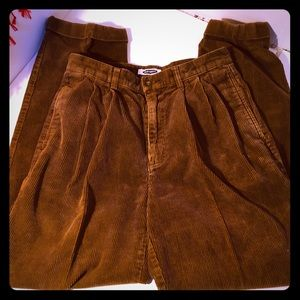 Old Navy pleated corduroy pants - 33/34